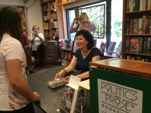 Michelle Brafman at Politics and Prose, speaking at Book Culture , signing book at Bethany Beach Books